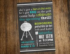 bbq baby shower invitations | bbq baby shower invitation printable custom by katesprintables