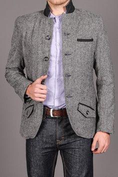 MENK Grey Tweed Sportcoat
