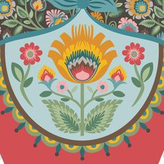 Katerzyna the Russian Nesting Doll with wycinanki flowers Floral Pattern Matryoshka and Maiden doll art print Matryoshka Doll, Paper Cutting, Folk Art, Tapestry, Dolls, Art Prints, Illustration, Floral, Flowers
