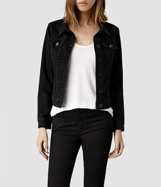 Womens Black Jean Jacket - JacketIn