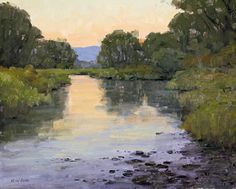 On a Summer's Evening by Keith Bond Oil ~ 17 x 21 - landscape painting