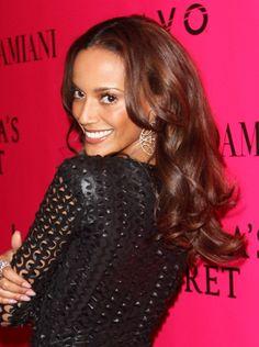 Selita Ebanks wavy, long hairstyle