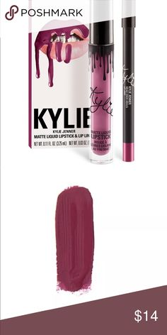 Kylie Lipkit Posie K Liquid Matte Lipstick with Matching Lip Liner Kylie Cosmetics Makeup Lipstick