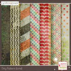 Dirty Patterns - one. Digital Scrapbook product. at Gotta Pixel. www.gottapixel.net/