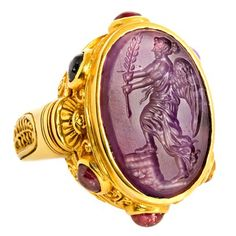 "Amethyst Intaglio ""AntiQuity"" Ring 