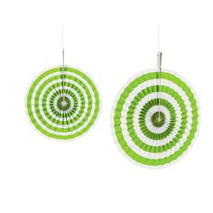 Lime Green Stripe Hanging Fans - OrientalTrading.com