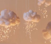 Indoor clouds- fun for decorating the ceiling!