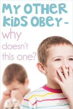 Do you have THAT one kid who just isn't like the others? You know, the one who rarely obeys despite your parenting attempts- the same ones that worked for the others? You're not alone.