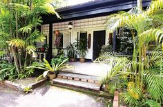 Tour this charming black and white house on Hyderabad Road, Singapore Colonial Exterior, Colonial Architecture, British Colonial, Outdoor Living, Outdoor Decor, White Houses, Lush Green, Great Places, Singapore