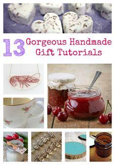 13 Gorgeous Handmade Gift Tutorials - Crafts on Sea