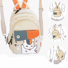 Cheap girls school, Buy Quality backpack crossbody directly from China quality backpacks Suppliers: Anime Bagpacks Natsume_Yuujinchou Leisure backpack crossbody bag Student Travel Bagpack Popular Boys Girls school High quality Backpack For Teens, Backpack Bags, Fashion Backpack, Student Cartoon, Natsume Yuujinchou, Kawaii Clothes, Cute Bags, School Bags, Cool Things To Buy