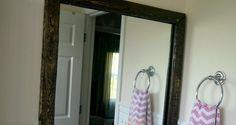 DIY Removable Wood Mirror Frame