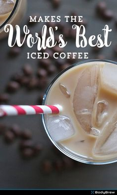 World's Best Iced Coffee--would be great with almond milk ice cubes! www.bodybrew.com #healthyfood