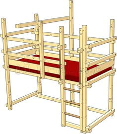 Loft Bed Adjustable by Age. Assembly Height 4