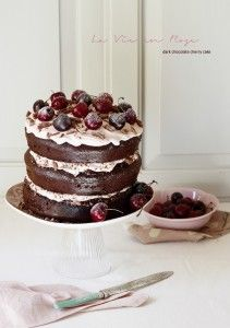 La Vie en Rose dark chocolate cherry cake