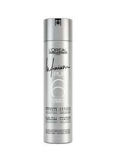 L'Oréal Professionnel Paris Infinium Pure Hairspray Extra Strong.