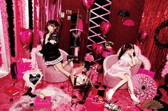 Official website for Endo Ayumi / Prop stylist, Set designer Pink Bedroom Decor, Cute Goth, I Love My Wife, Prom Queens, Dynamic Poses, Pink Moon, Goth Aesthetic, Kid Styles, Japan Fashion