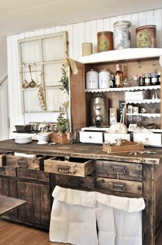 Colonial kitchen - thank goodness we progressed from there! Hard times....
