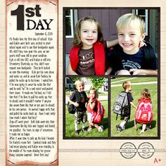 Back-to-School Scrapbook Page