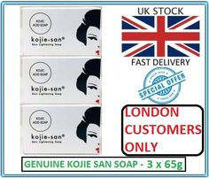Genuine Kojie San Kojic Acid Skin Lightening Soap 3 x 65g