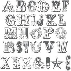 Old West Calligraphy Alphabet Alphabet A, Hand Lettering Alphabet, Calligraphy Letters, Typography Letters, Writing Fonts, Sign Writing, Creative Lettering, Graffiti Lettering, Types Of Lettering