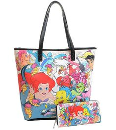 Disney Discovery- The Little Mermaid Loungefly Tote and Wallet