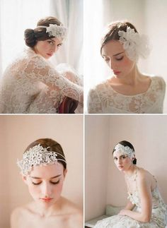 A beautiful collection of designer wedding dresses, find a bridal shop near you and find your perfect gown Bridesmaid Headpiece, Wedding Headband, Bridal Hair, Wedding Bells, Diy Wedding, Dream Wedding, Wedding Ideas, Wedding Hair Accessories, Bride Hairstyles