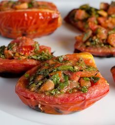 Grilled Tomatoes with Arugula - Healthy!