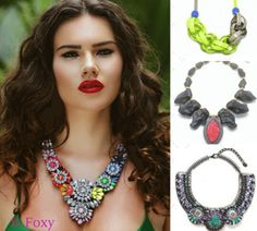 Intense-Dramatic-Magical is how we like our statement Necklaces. www.bfoxy.com