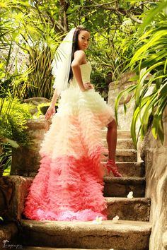 Colorful Tropical Wedding Dress Photography By Tropicpic Bride
