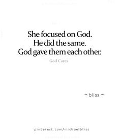 God's matchmaking.
