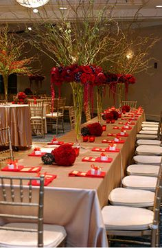Red Gold Chinese Themed Wedding Seaport Hotel Venue Boston Massachusetts