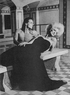 Wayne Clark, American Vogue, March Photograph by Deborah Turbeville. Carmen Dell'orefice, Wayne Clark, San Simeon, Vogue Us, Ballet Class, Classy Women, Supermodels, Fashion Models, Hair Beauty