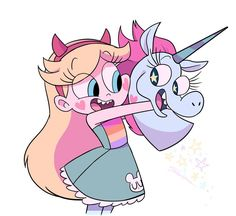 Star with her gal pal, Princess Pony Head Star Vs Les Forces Du Mal, Star Vs The Forces Of Evil, Starco, Vintage Cartoon, Cartoon Art, Pony Head, Art Sonic, Star E Marco, Princess Star