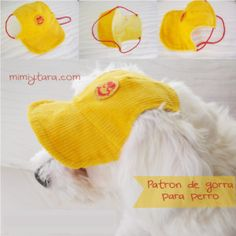 Free Dog Clothes Patterns: Dog cap pattern - maybe another to fit a toy giraffe? Dog Clothes Patterns, Sewing Patterns, Shirt Patterns, Dress Patterns, Costume Patterns, Dog Pajamas, Dog Pattern, Free Pattern, Vest Pattern