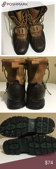 Size 12 Ralph Lauren men's boots Good used condition. Colors may vary slightly to lighting and photos. No holes, rips or stains. ❌Smoke and pet free home. ⚡️Same/next day shipping. 💲Save by bundling or make a reasonable offer through the offer button. 🚫No trades or modeling. 📦Wrapped and shipped with care. 🎁Includes free gift. Ralph Lauren Shoes Boots