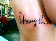 Love this tattoo font and placement.