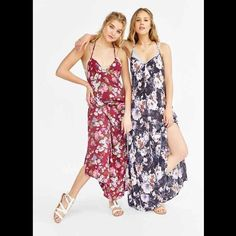 NWOT Band Of Gypsies Racerback Floral Maxi Dress NWOT Band Of Gypsies Racerback Floral Maxi Dress. Deep purple/blue color, size medium! Absolutely stunning! Price is firm Band of Gypsies Dresses Maxi