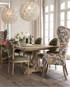 Markor Dining table rustic wood dining tables and chairs idyllic combination of European high-back sofa chair designer