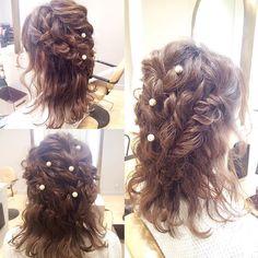 ツイストと編み込みで仕上げたダウンスタイル#takamibridal#bridalhair#makeup#hair#weddingmakeup#bridal#hairarrange#bride#make#beautedesanges #へアメイク#タカミブライダル#ブライダルヘア#メイク#ヘア#花嫁#ヘアアレンジ#プレ花嫁#南青山ルアンジェ教会#表参道#ボーテドルアンジェ#ヘアメイクサロン#セットサロン