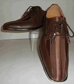 Mens Gorgeous Brown Satin Stripe Silvertip Dress Shoes Expressions 4925 Men Dress, Dress Shoes, Formal Looks, Beautiful Shoes, Leather And Lace, Boat Shoes, Oxford Shoes, Lace Up, Classy