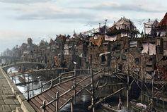 Old Korvosa Slums by BenWootten.deviantart.com on @deviantART