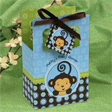Adorable Monkey Boy Baby Shower Favor Boxes!