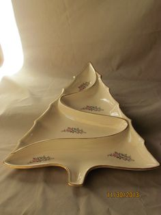 Christmas Tree Dish on Etsy, $62.00