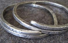 Sterling Silver Bangle Bracelet Wrap Style by VictoriaTeague