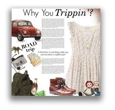 """""""Don't Believe Me? Just Watch!"""" by sherieme ❤ liked on Polyvore featuring Topshop, Forever 21, vintage, roadtrip and polyvorecontest"""