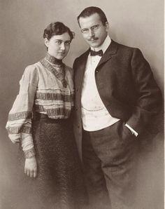 """Carl et Emma Jung - """"Elle reste dans les mémoires cette silhouette altière et bienveillante dont la production intellectuelle [...] est finalement majeure dans l'avancée de la réflexion jungienne sur le masculin et le féminin. """""""