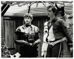 Star Wars: Episode V - The Empire Strikes Back behind the scenes photo of Harrison Ford & David Prowse