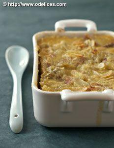 Photo de la recette : Gratin rhubarbe amandes, sans gluten, sans lactose