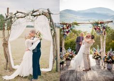 Wedding Ceremony Arch/Canopy Inspiration | http://brideclubme.com/articles/wedding-ceremony-archcanopy-inspiration/